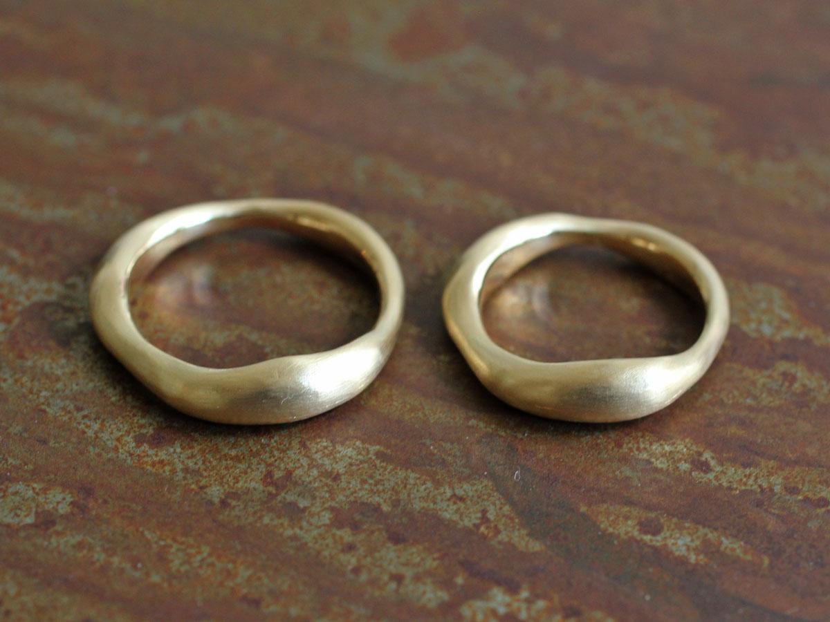 14金 粘土 結婚指輪