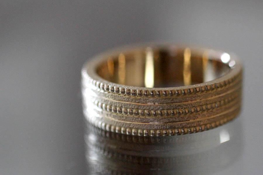 ミル打ち 結婚指輪 マリッジリング