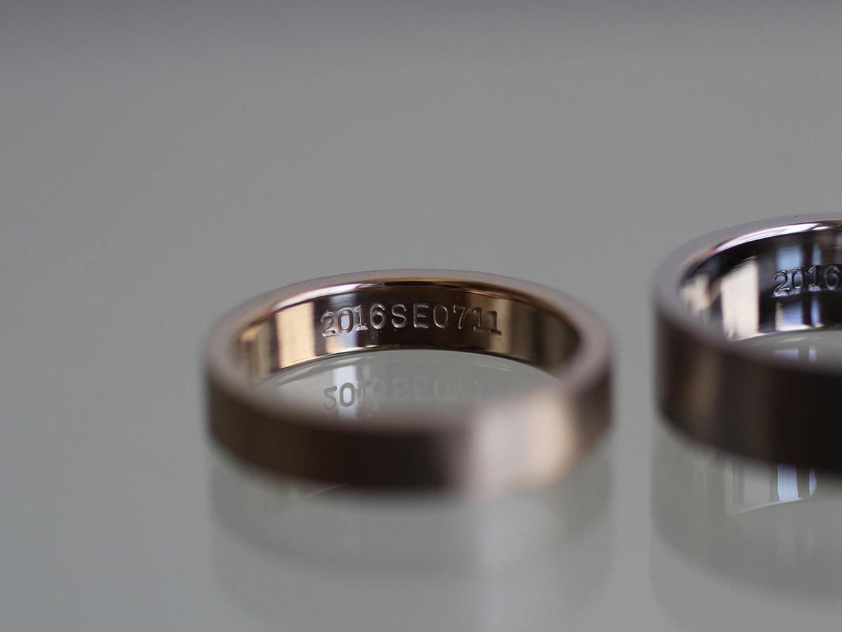 結婚指輪 手作り 刻印