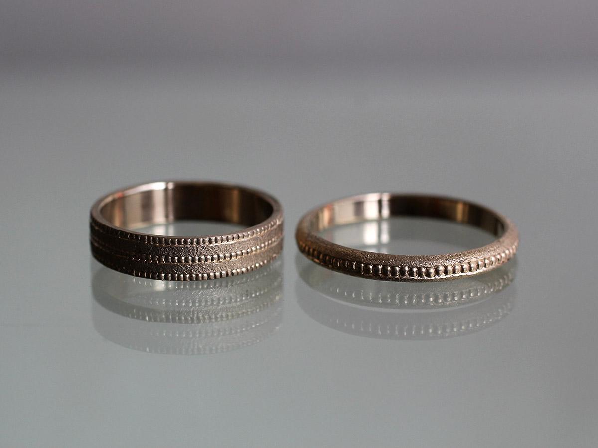 結婚指輪 ミル打ち アンティーク