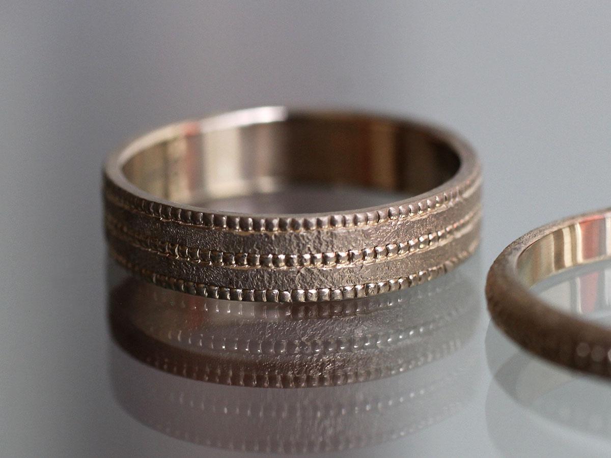 ミル打ち つぶつぶ 結婚指輪