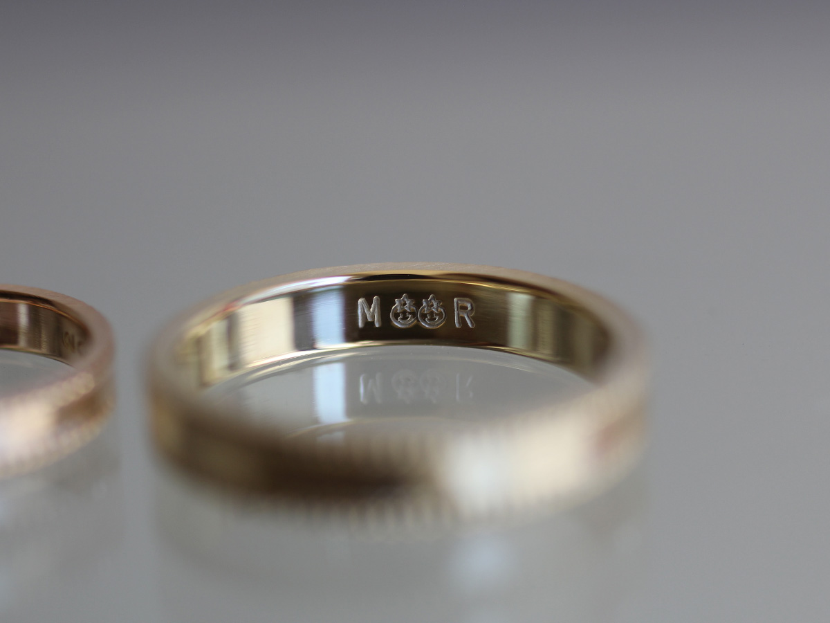 結婚指輪 刻印 個性的