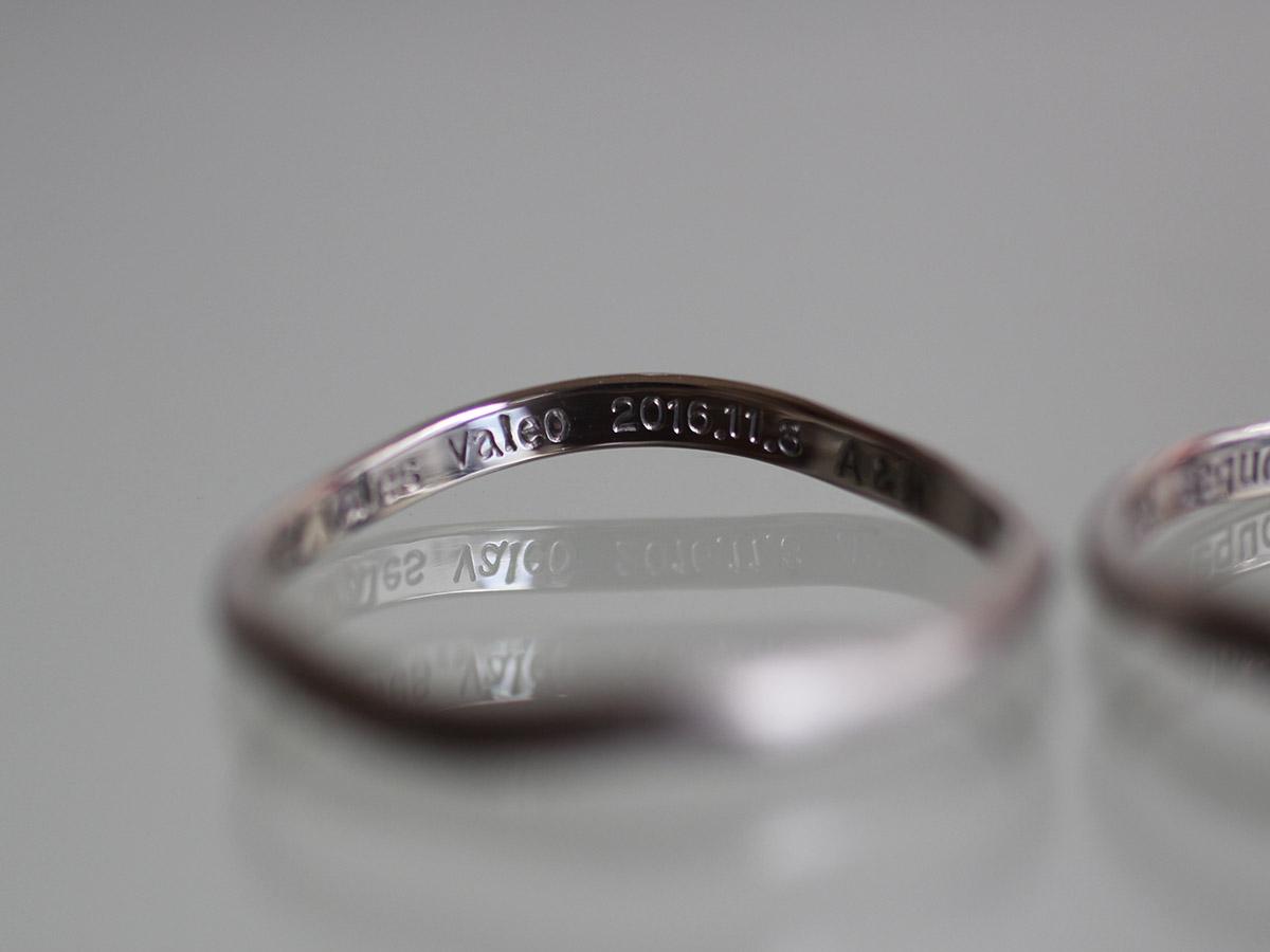 シルバーゴールド 三角 結婚指輪
