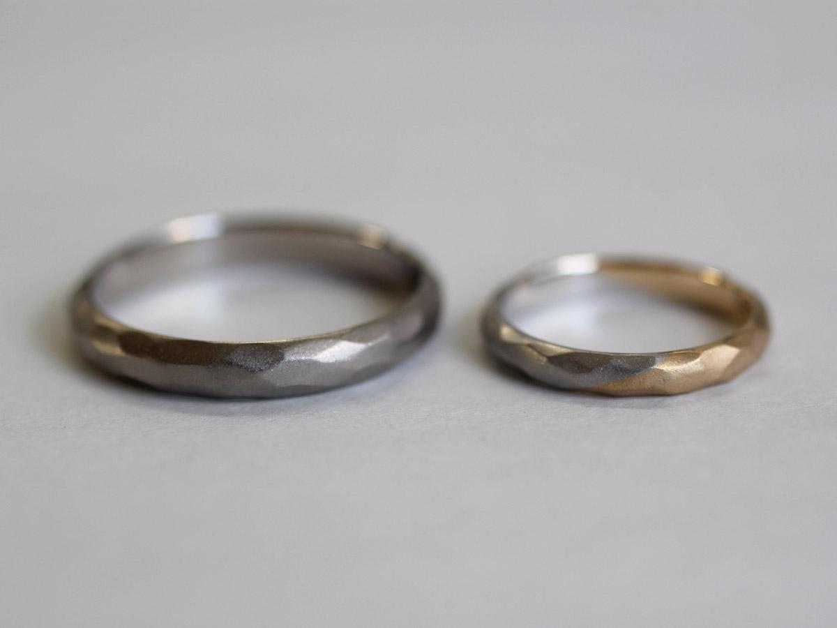 マット 結婚指輪 梨地