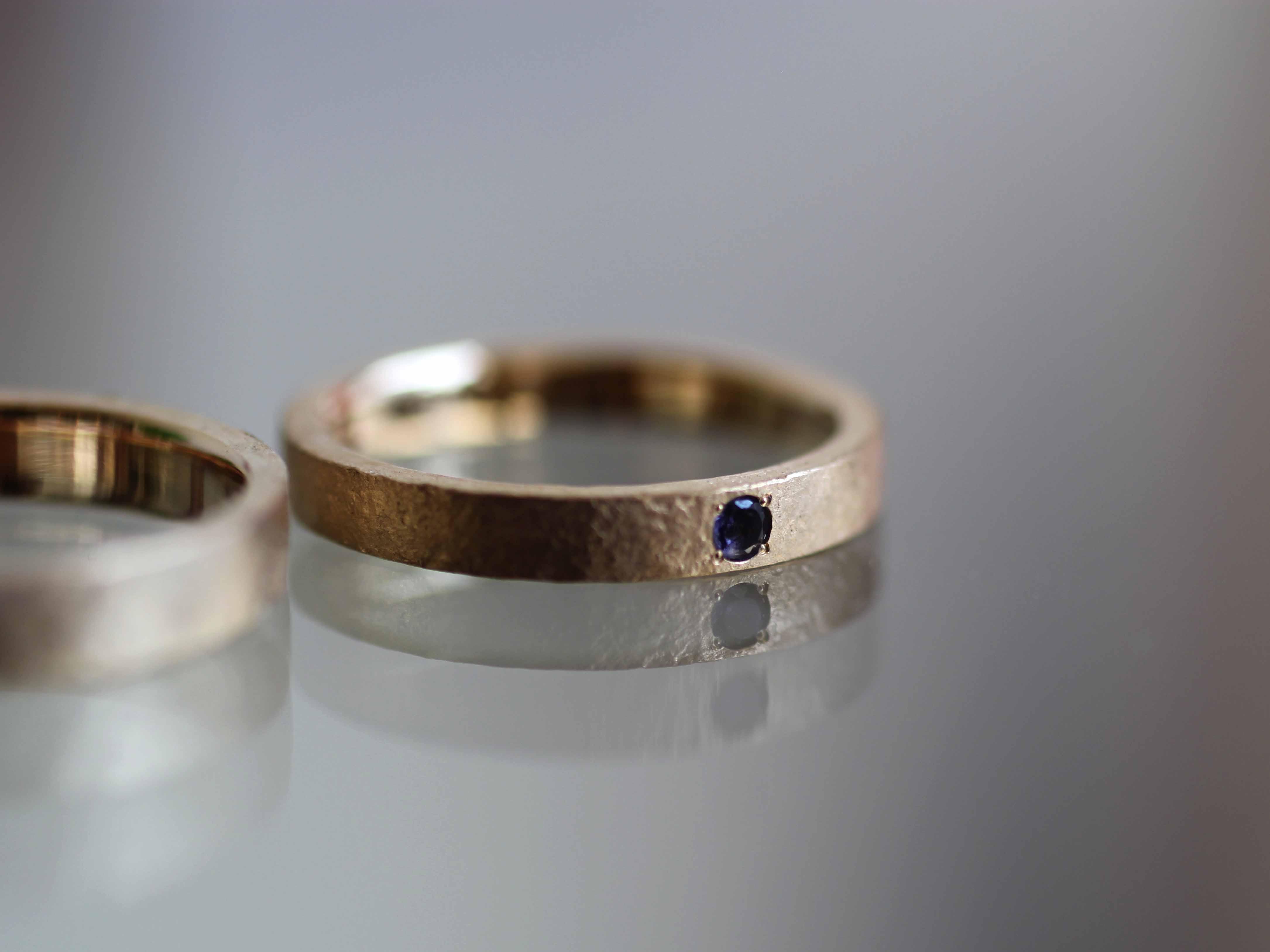 アイオライト ストーン 結婚指輪