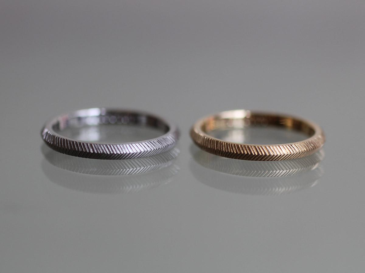 マリッジリング ヘリンボーン 結婚指輪