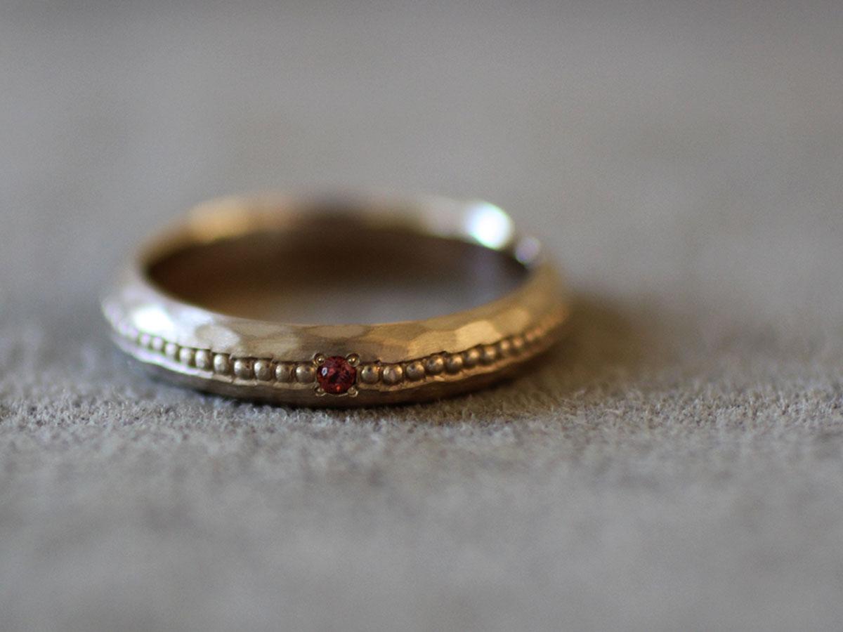 millegrain ring アンティークミル打ちリングミル打ち