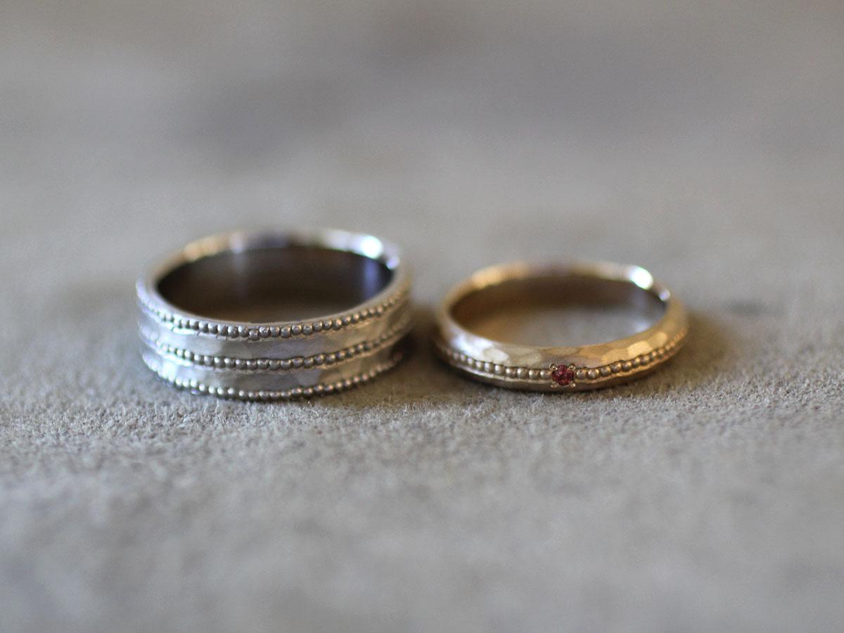 ミル打ち アンティーク 結婚指輪