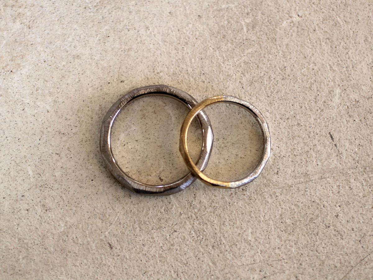 削り出しの結婚指輪