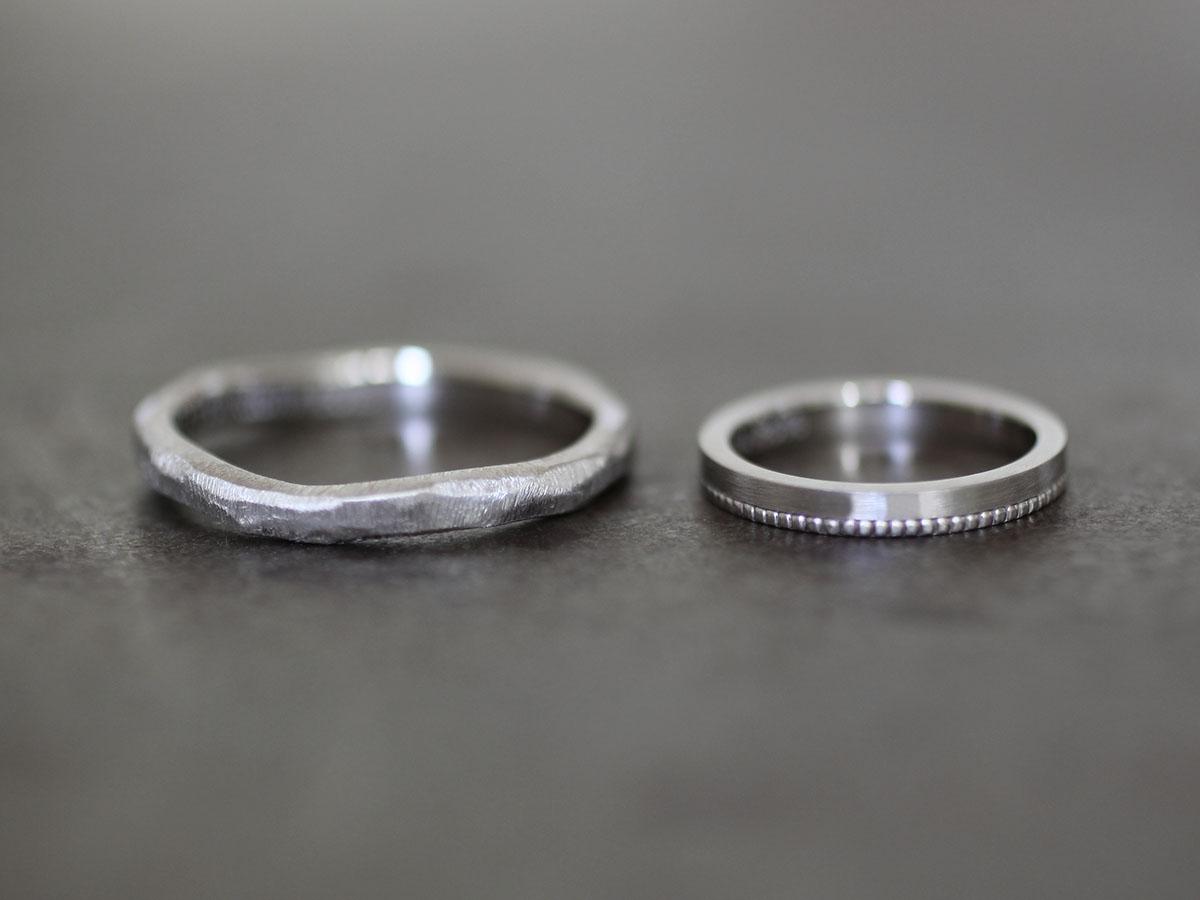 10金 ホワイトゴールド 結婚指輪