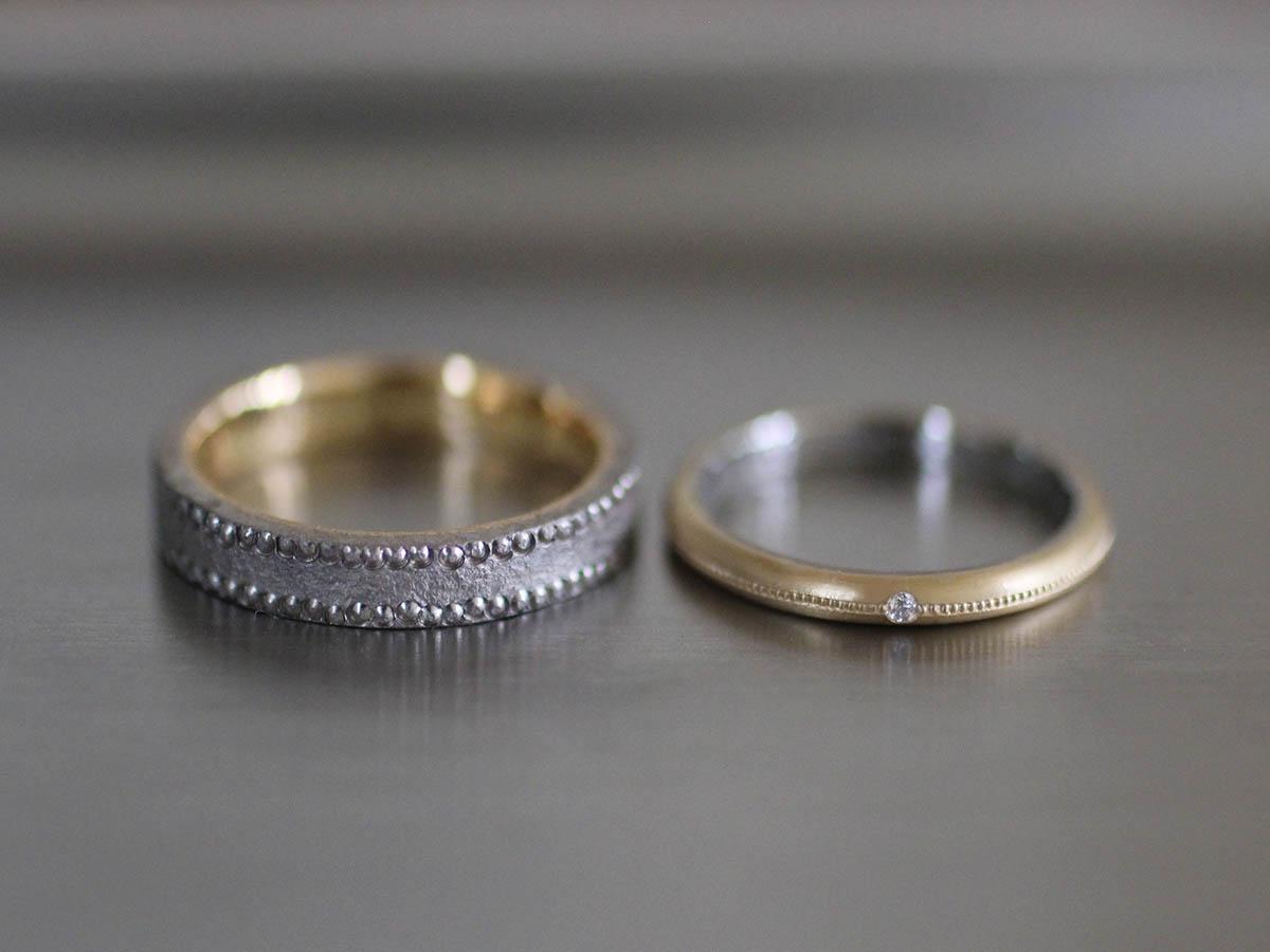 結婚指輪 ヴィンテージ 色違い