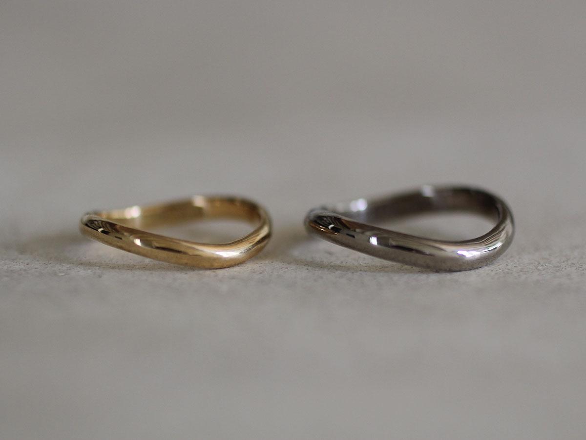 結婚指輪 歪み ウェーブ