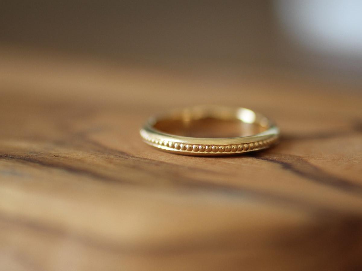 ミル打ち 結婚指輪 シック