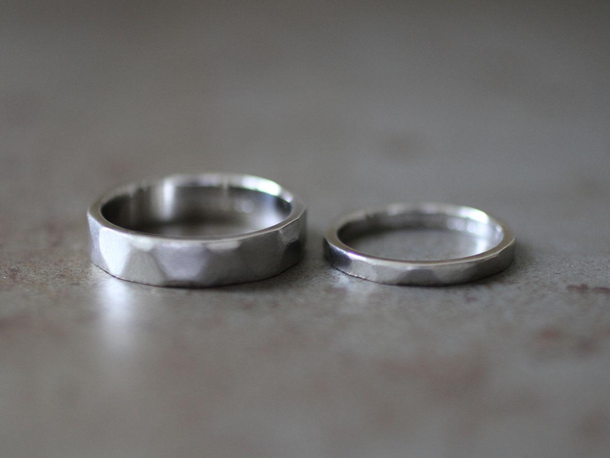 結婚指輪 銀 つや消し