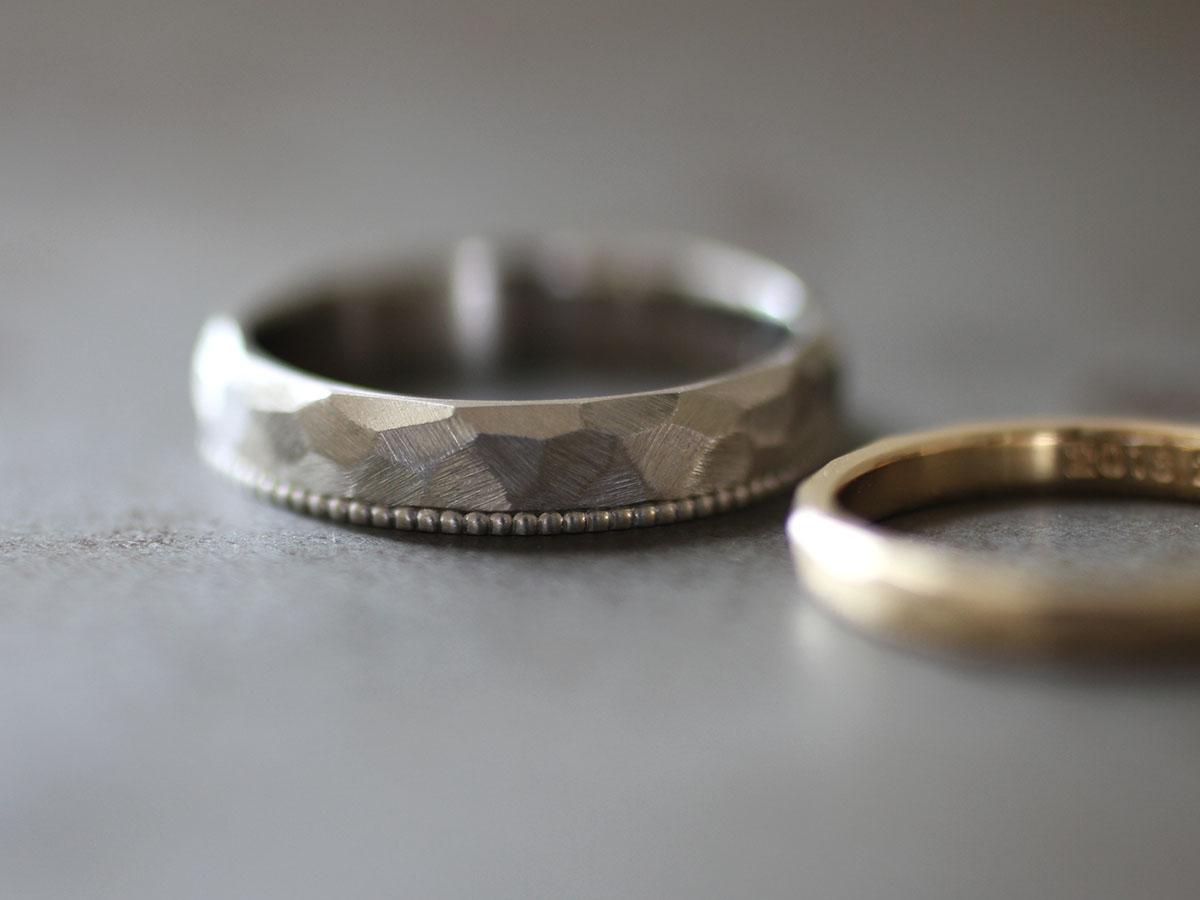 結婚指輪 つや消し マット