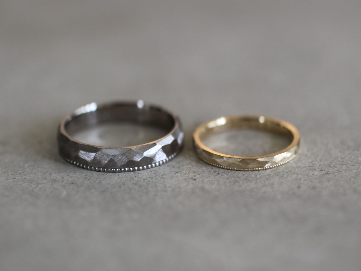 マリッジリング  渋い 結婚指輪