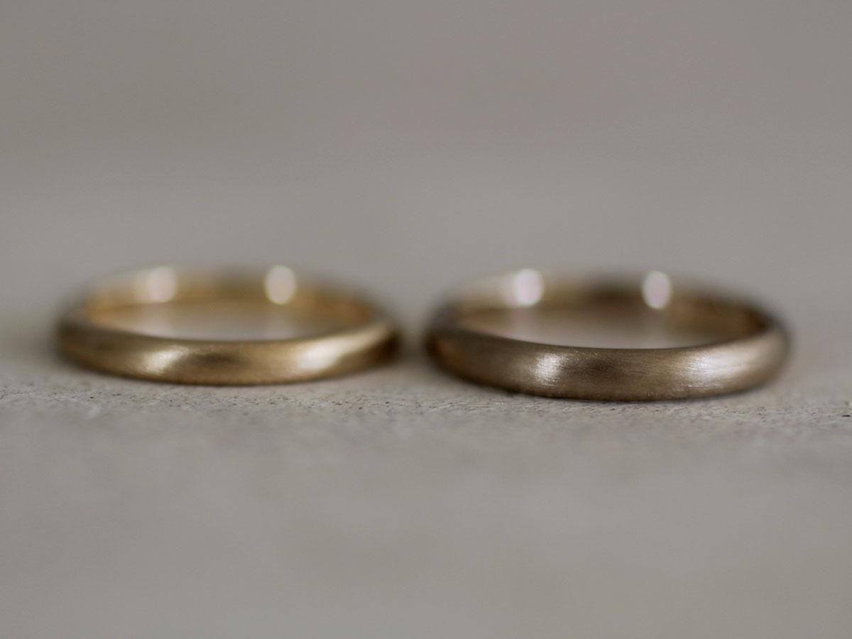 結婚指輪 シック つや消し
