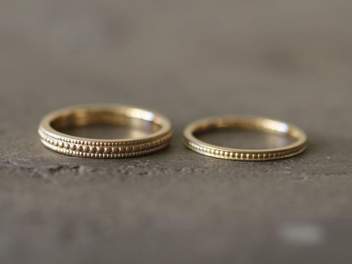 アンティークな雰囲気の結婚指輪