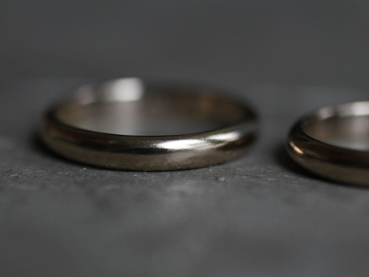 梨地加工の結婚指輪