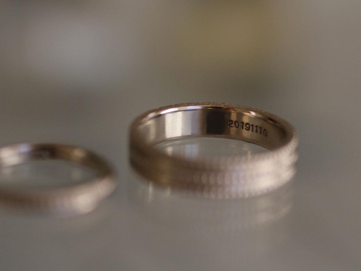 結婚指輪の刻印