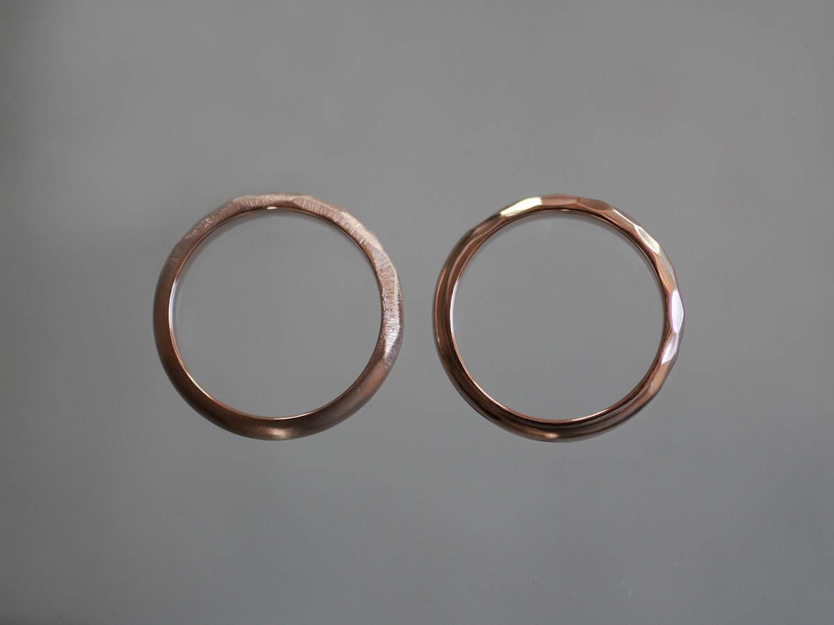 真上から見た結婚指輪