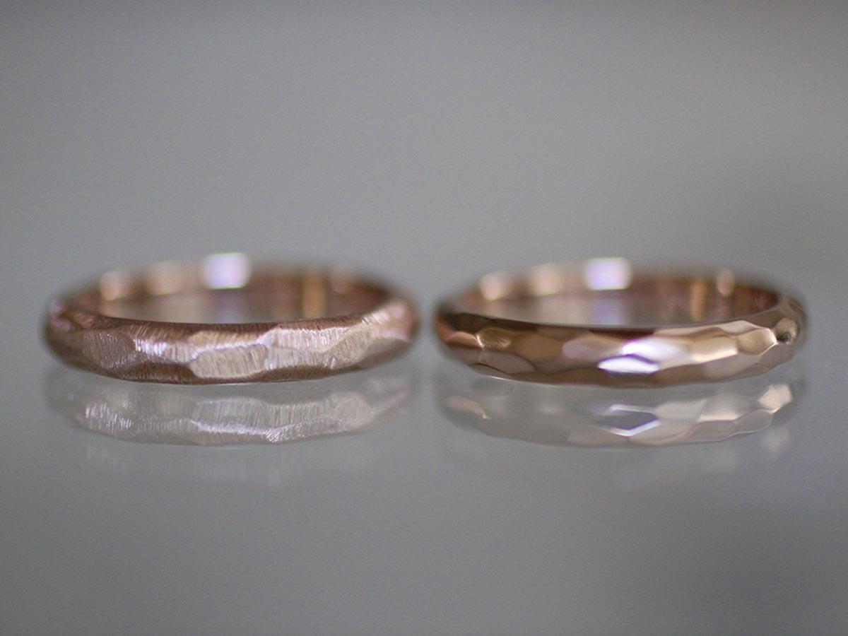 雰囲気の良い指輪の表面加工