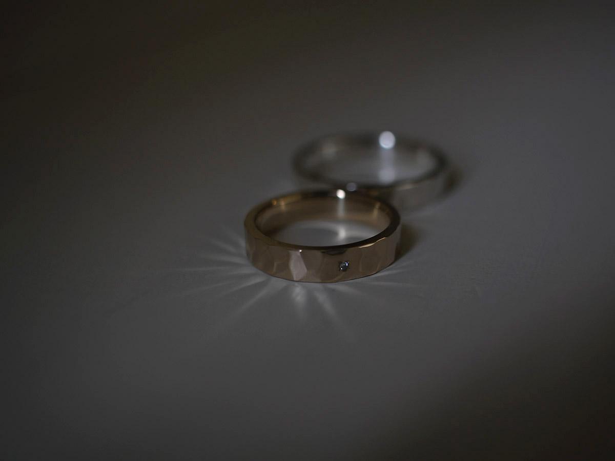 光を乱反射する指輪