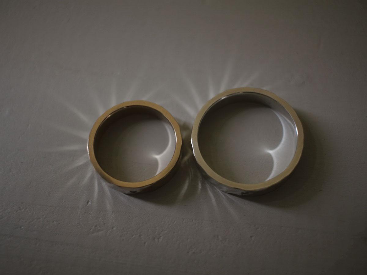 光を反射する指輪