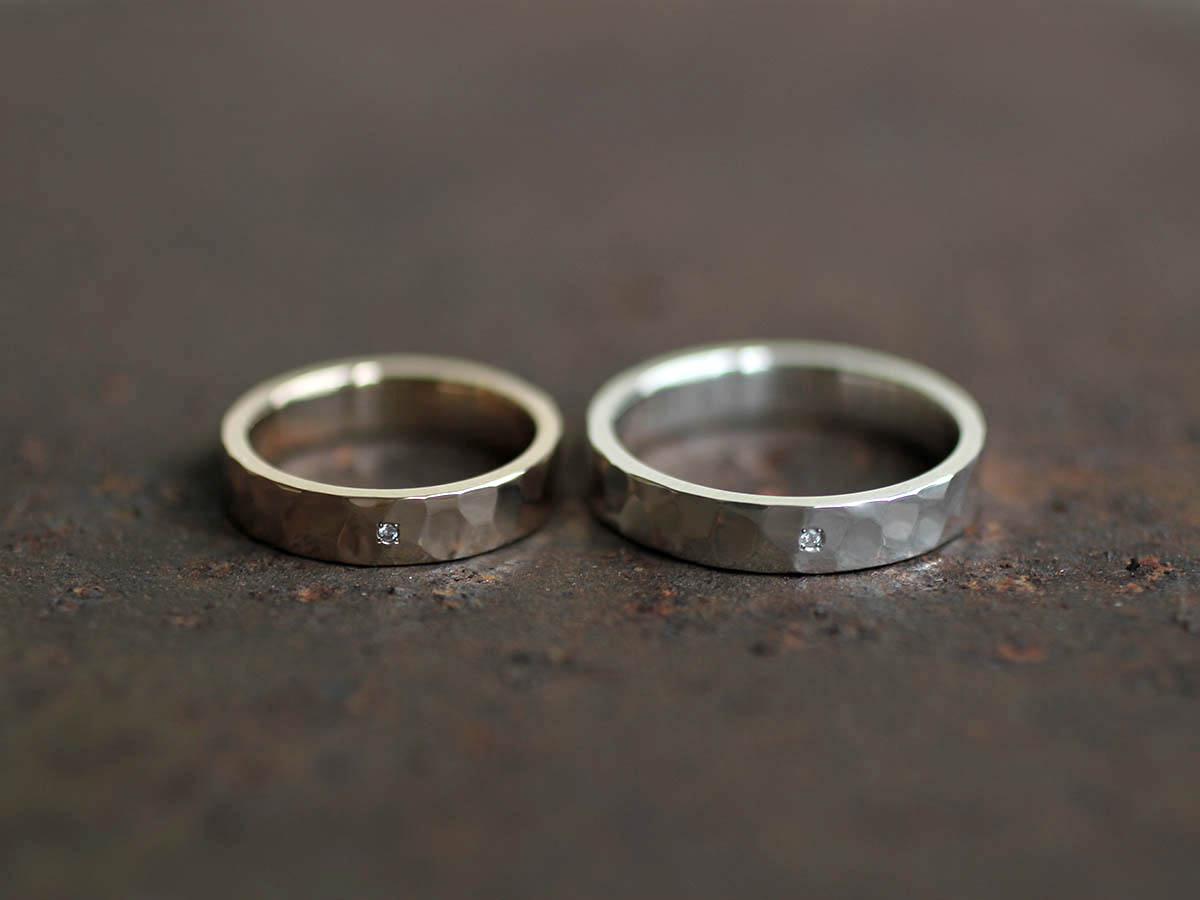 重厚な結婚指輪