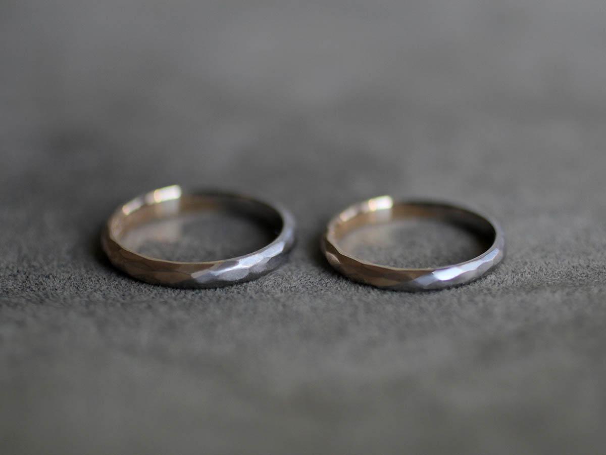 2色使いの結婚指輪
