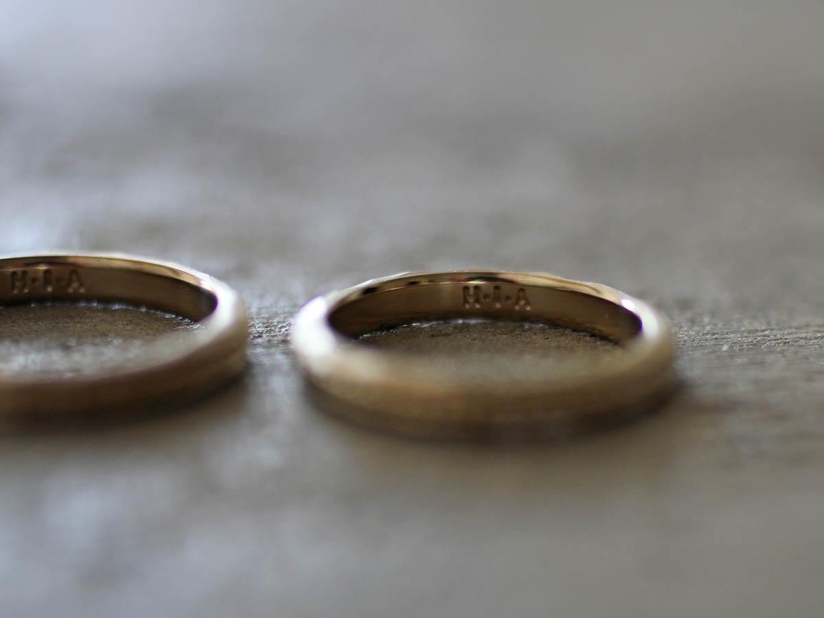 味のある結婚指輪の刻印